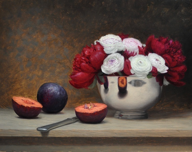 Plums and Peonies