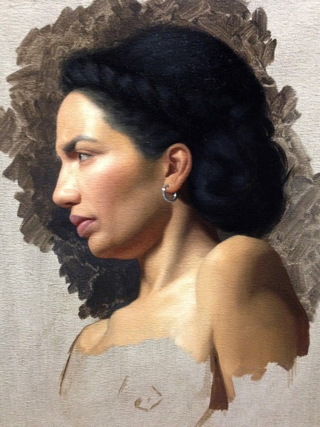 Woman With Braided Hair in Profile