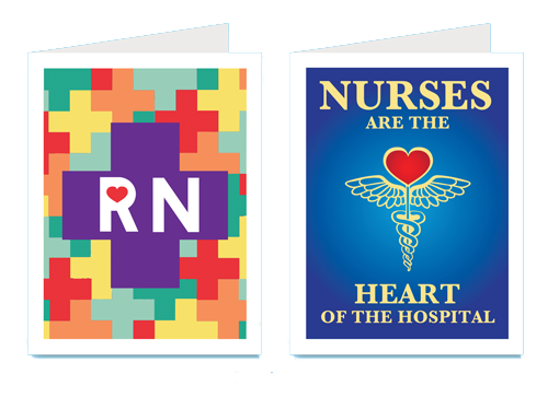 Custom Badge Holders displaying Nurses Credentials