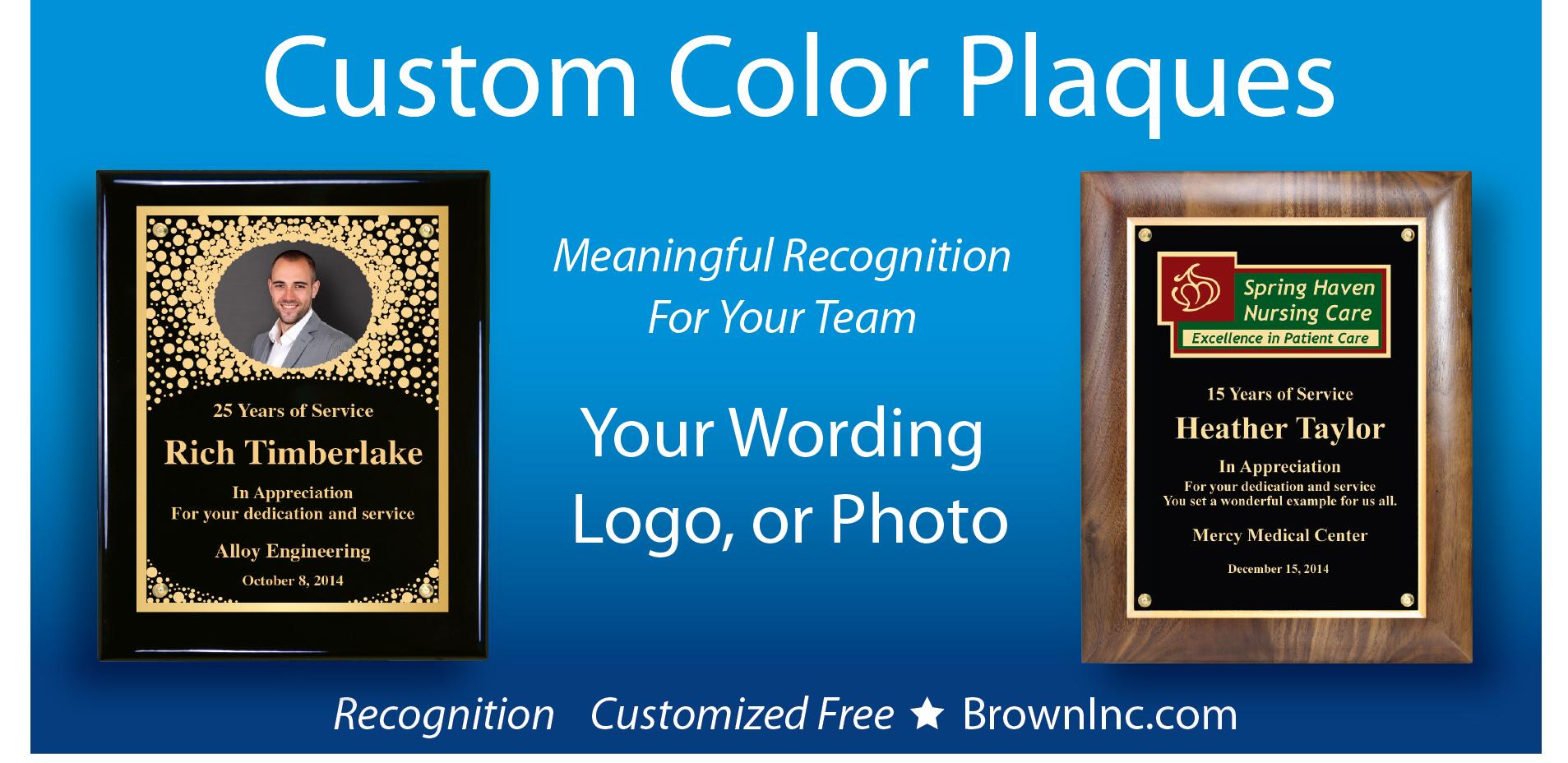 Custom Color Plaques