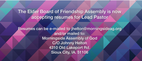 Youth Pastor Resume Example  New Beginnings Assembly Of God