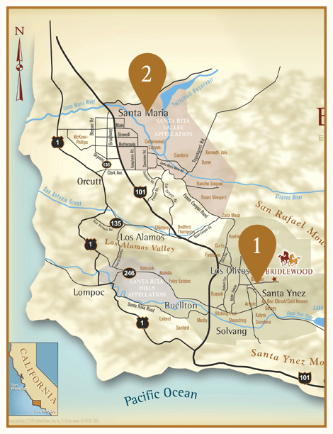 Wine Region Map