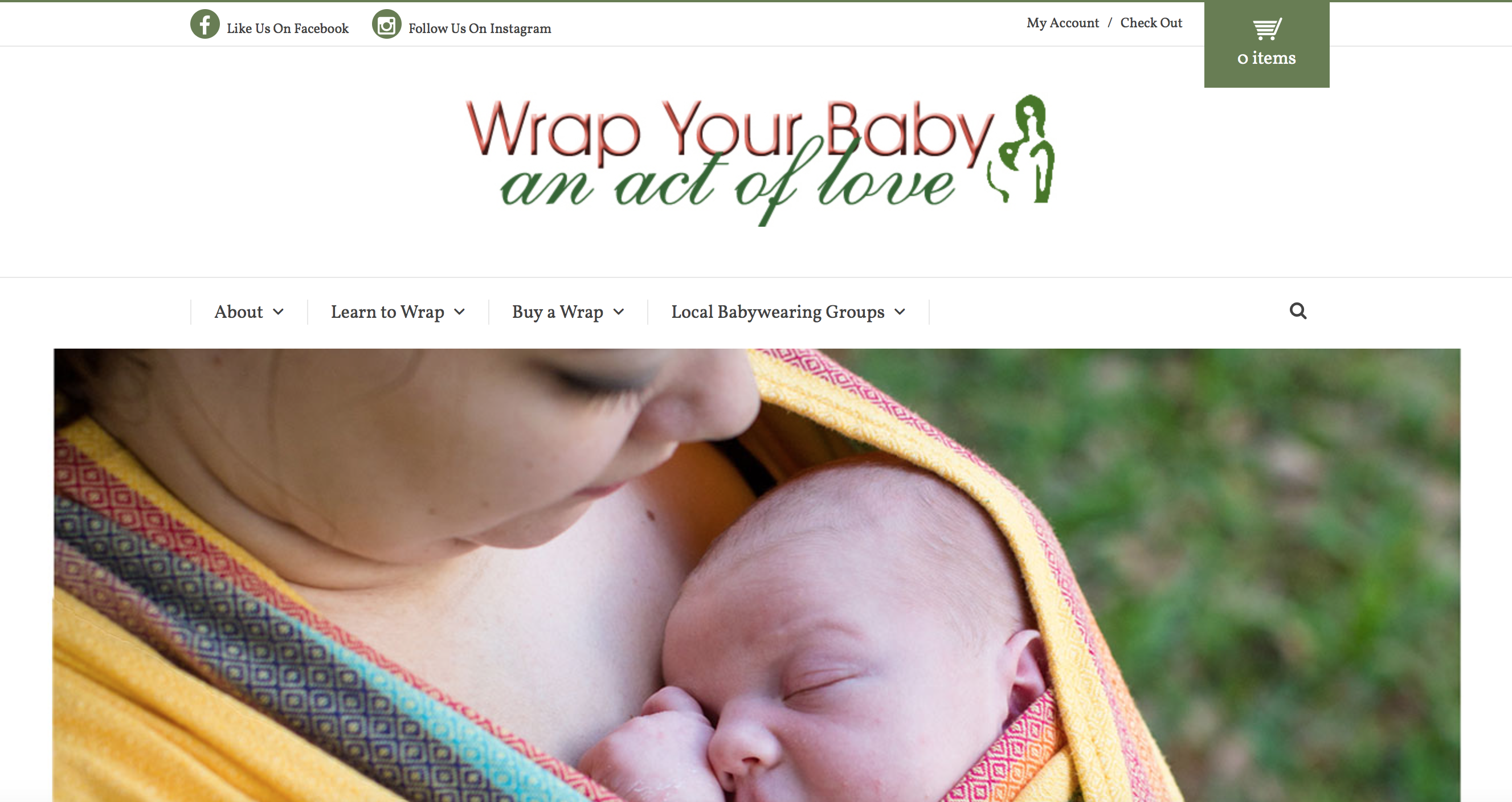 Custom Website by Bright Think Marketing - Wrap Your Baby 3