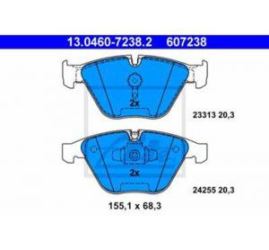 ATE Komplet kočionih obloga, disk-pločice za BMW Serije 3, E90, E91, E92, E93, E84