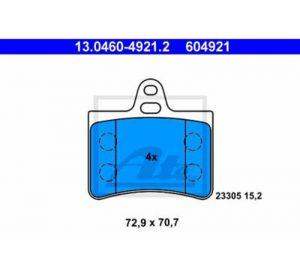 ATE Stražnje kočione obloge 61782 – Citroen C5, Audi A6