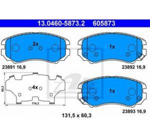 Prednje kočione obloge  – Honda, Hyundai, Kia