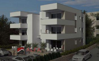Otok Pag, Novalja centar, prodaje se novi apartman sa velikom terasom i pogledom na more