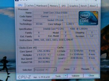 Intel Core 2 Duo E4300 Conroe, 1.8GHz LGA 775 65W Dual-Core Processor