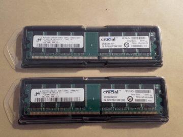 DDR1 2gb 2x1GB 4x1gb, DDR 400 PC3200 memorija za komp, novo