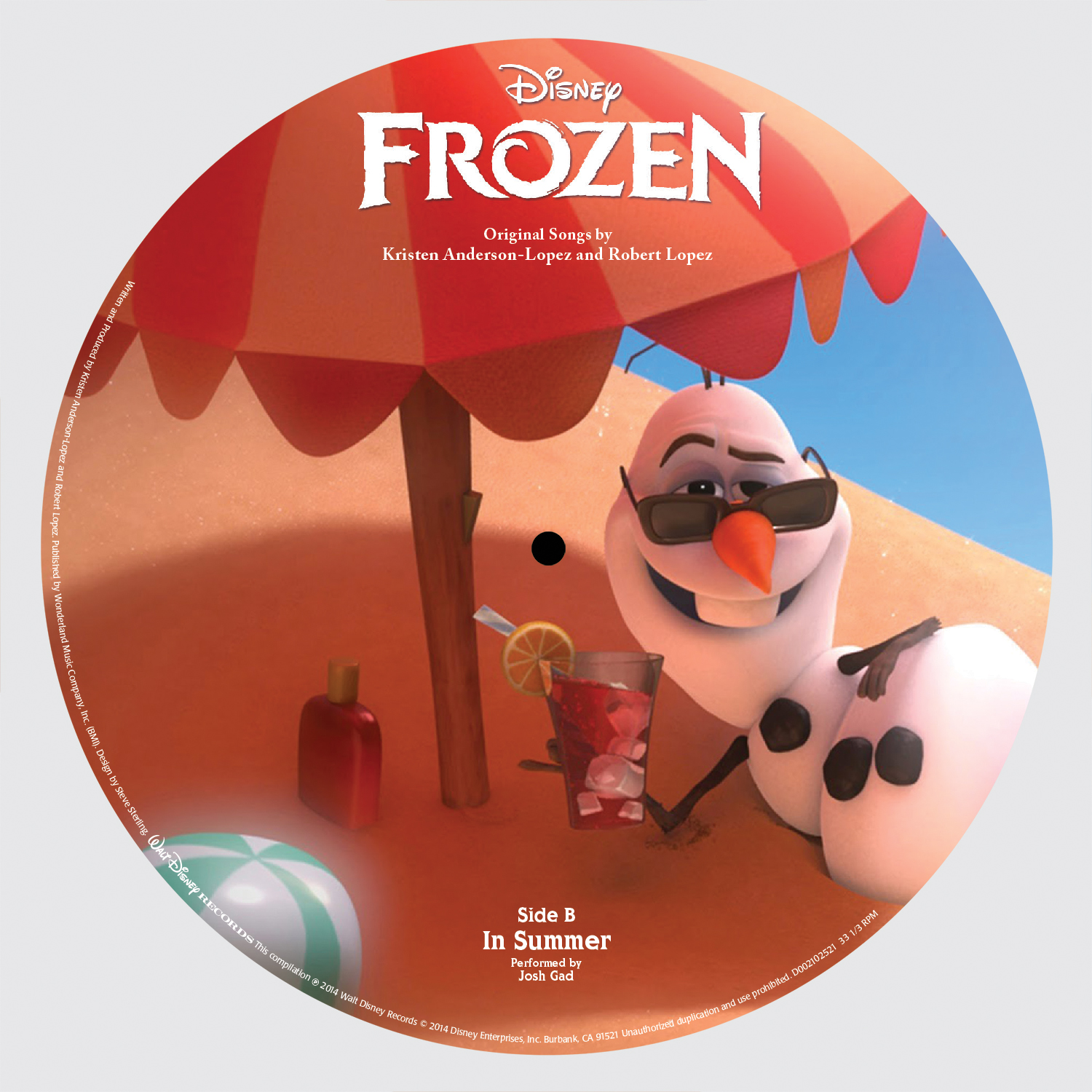 Disney Frozen Record Store Day