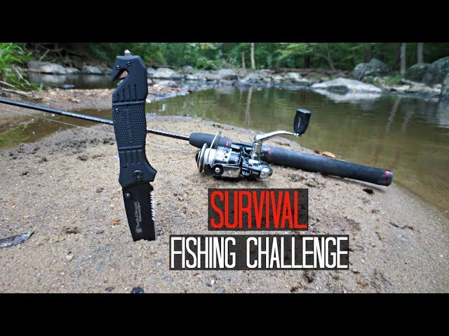 Survival Fishing Challenge!! (No Lures/Bait)