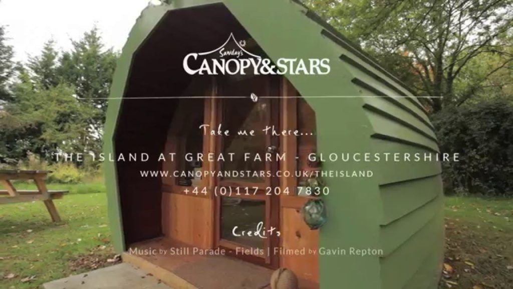 The Island at Great Farm – Sawday's Canopy & Stars | Glamping in Gloucestershire