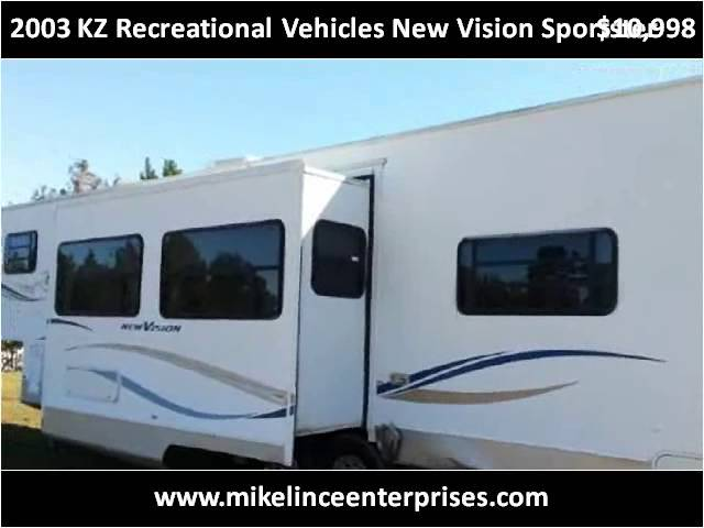 2003 KZ Recreational Vehicles New Vision Sportster Used Cars