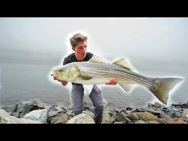 Most INSANE GIANT Striped Bass TOPWATER Fishing  — (Striper Mayhem D.1)