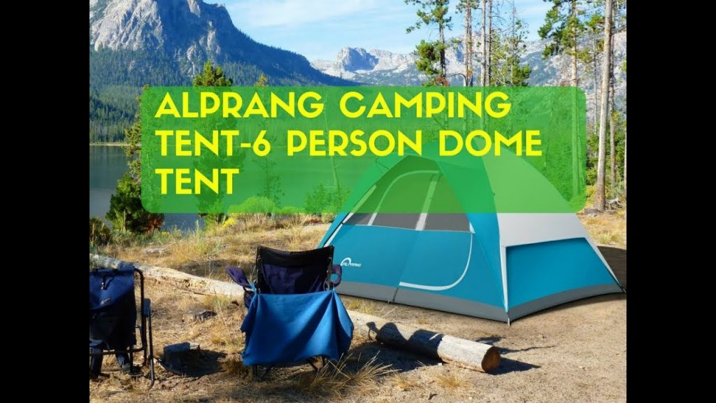 Alprang Camping Tent 6 Person Dome Tent,Portable Foldable Waterproof Outdoor Festival Camping Dome T