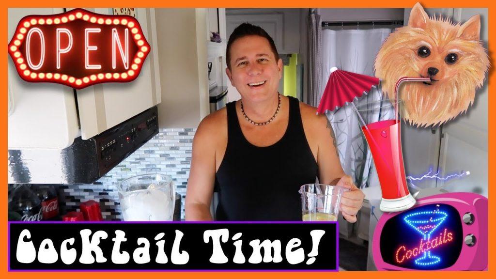 Strawberry Lemon Martini – Summertime Camping Drink Recipe – Gay Camping – Gay Glamping – RV Living