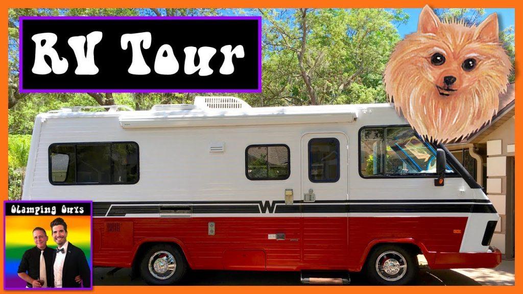 RV Living – RV Tour -1987 Winnebago – RV Remodel – RV Exterior – RV Interior Design – Gay Camping