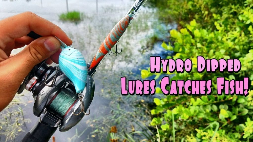 Hydro Dipped Fishing Lure Catches Fish! (FISHING CHALLENGE)