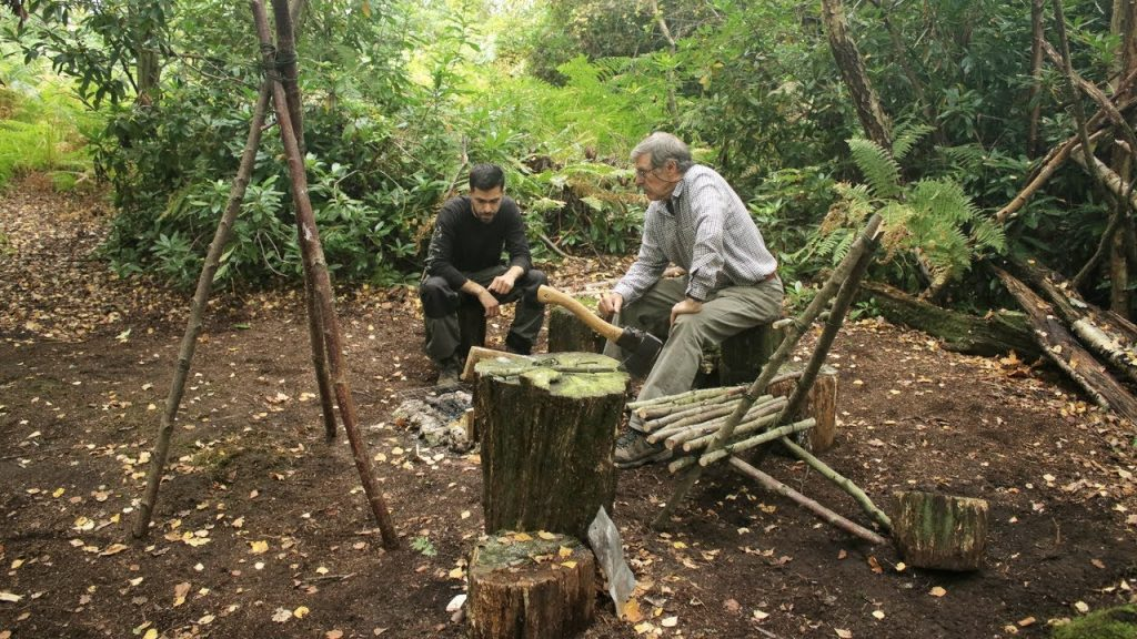 Bushcraft & Fishing – Catch and Cook Pan Fried Fish on the Fire at The Bushcraft Camp