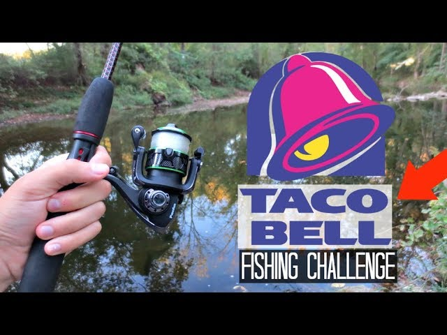 Taco Bell Fishing Challenge!! (Craziness)