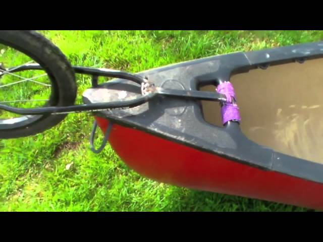 Homebuilt canoe dolly