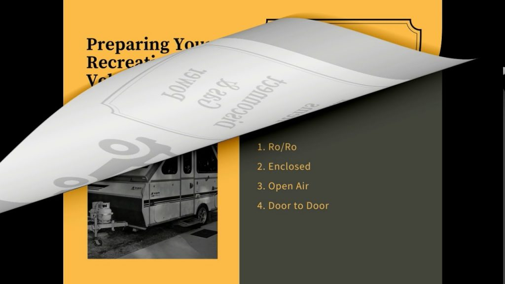 Rv shipping Services