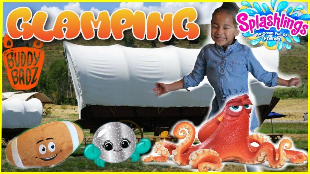 GLAMPING Surprise Toys Hunt Challenge Family Fun Toys for Kids Finding Dory Splashlings