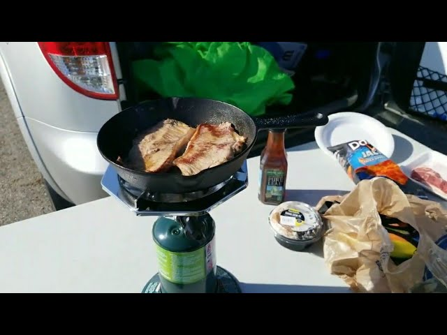 Cooking Outdoors While Car Camping: Steak!