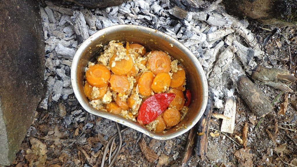 Carrot Eggs | Backpack Camp Meal Recipe Cooking
