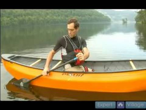 How to Steer and Paddle a Canoe : How to do Pry Strokes in Canoeing