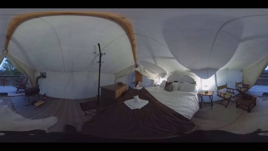 Step Inside a 'Glamping' Tent (360 Video)