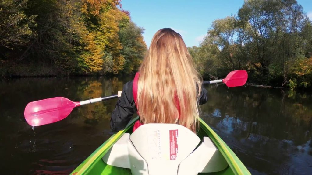 GOLD AUTUMN WITH GOPRO HERO 6 4K SKIRAFT RIVER CANOEING