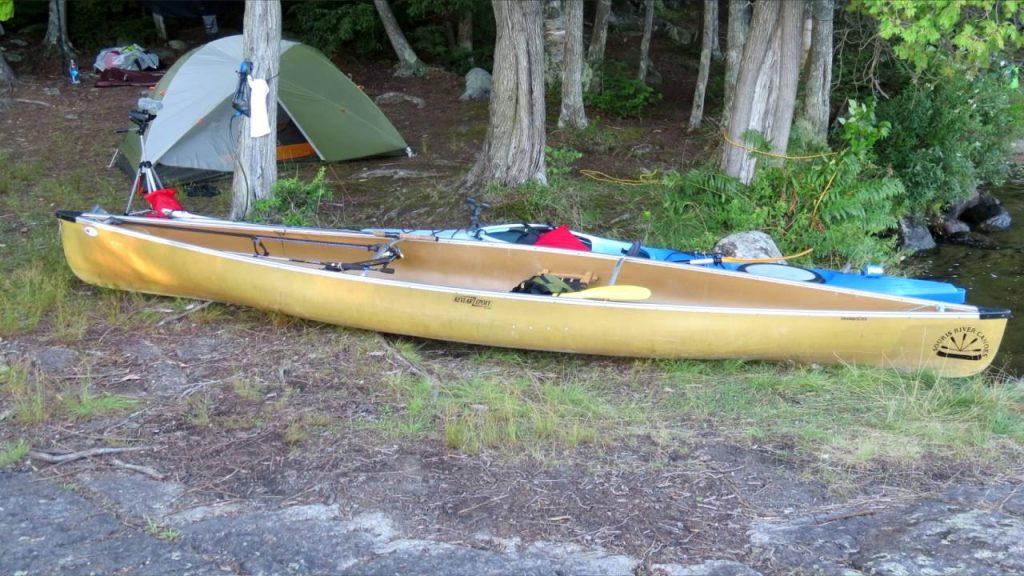 Adirondacks canoe camping. Floodwood Pond to Upper Saranac lake