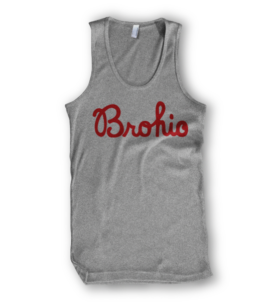 A script Brohio tank top for all you Ohio bros out there.