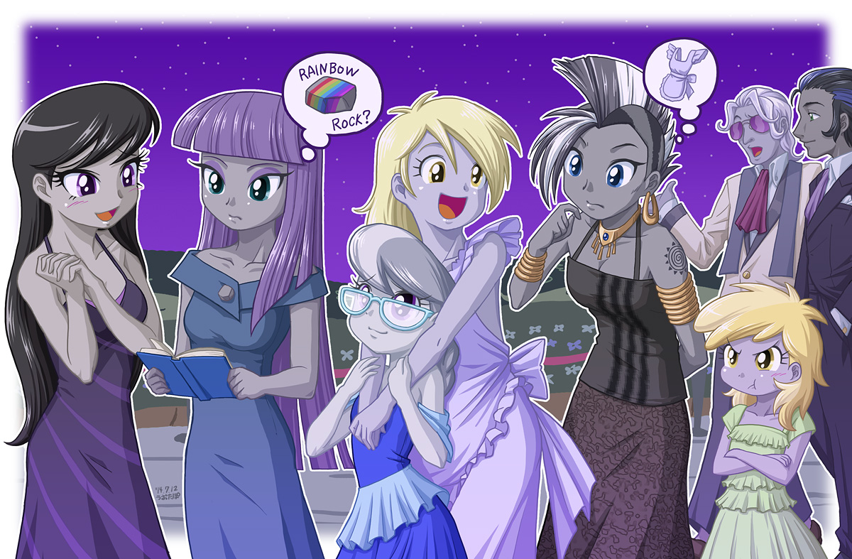 Maud pie and others equestria girls drawn by uotapo bronibooru