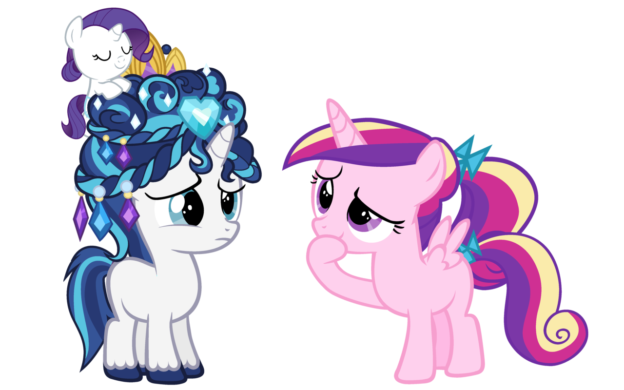 Princess Cadance Rarity And Shining Armor Drawn By
