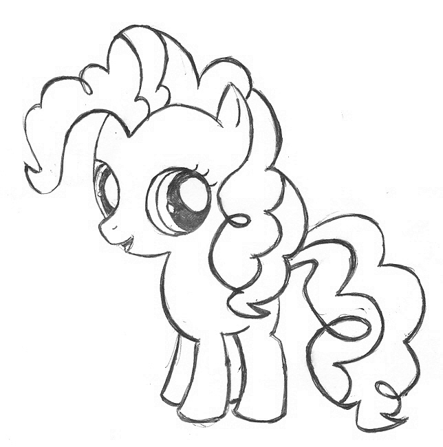 Free Coloring Pages Of Young Fluttershy Pinkie Pie Coloring Pages