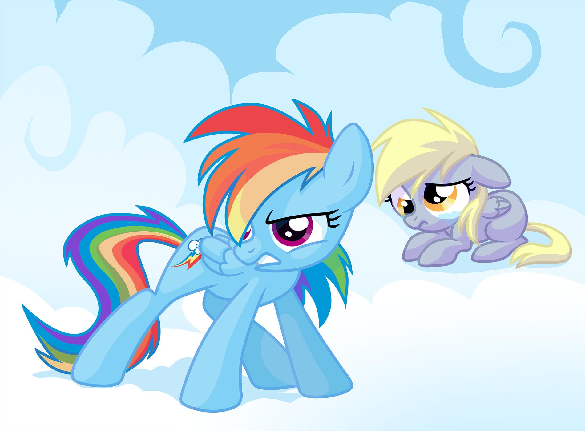 derpy hooves and rainbow dash drawn by feyrah - Bronibooru  Filly Rainbow Dash And Derpy