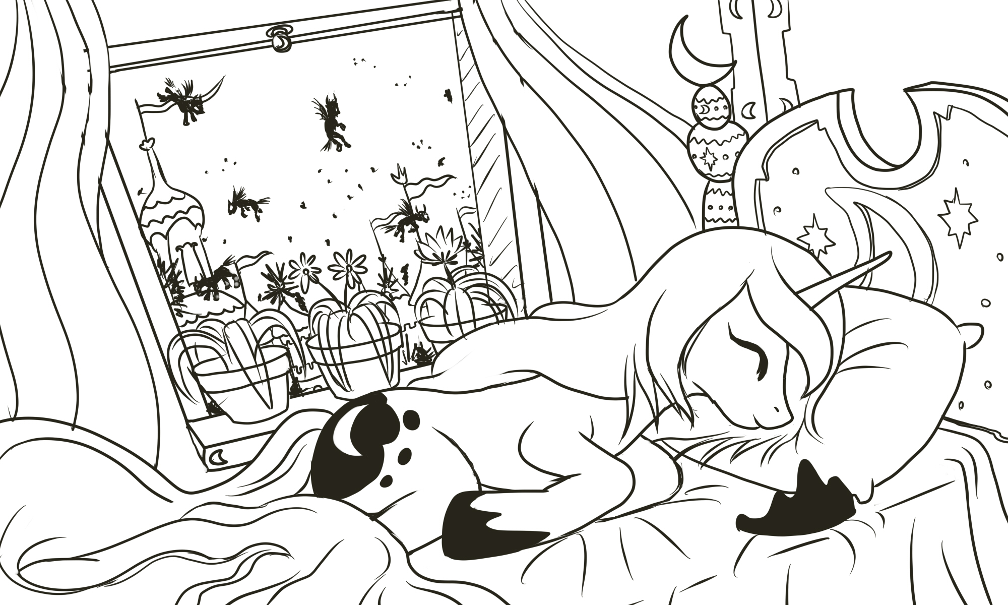 Coloring pages of princess cadence -  Image