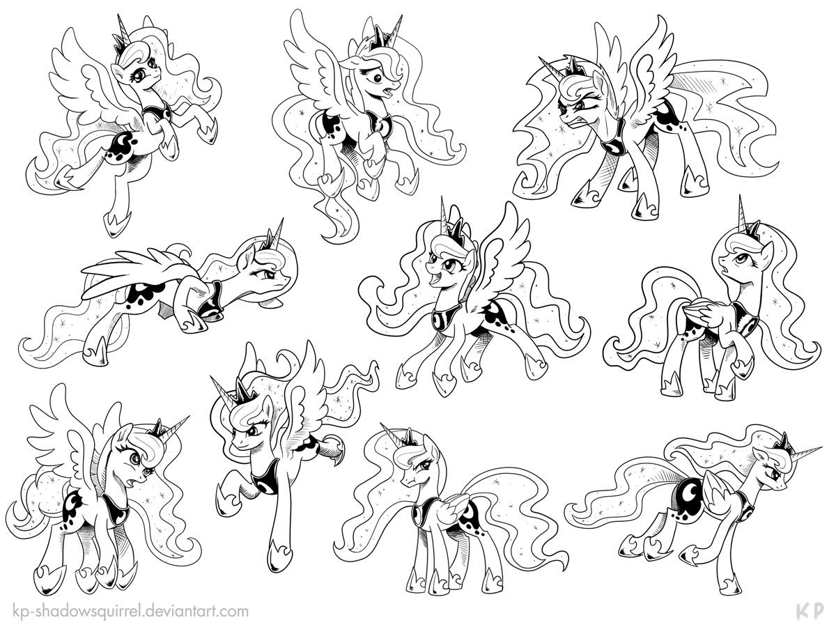 Печать раскраски с пони