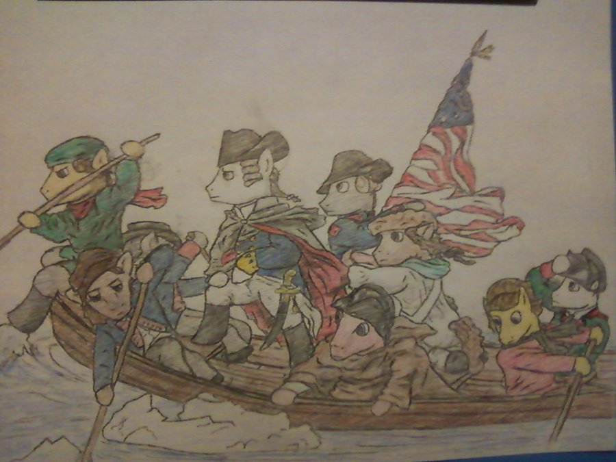 washington crossing the delaware painting description essay