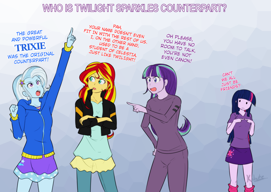 Starlight Glimmer Sunset Shimmer The Great And Powerful