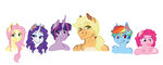 anthro applejack earthsong9405 fluttershy main_six pinkie_pie rainbow_dash rarity twilight_sparkle