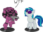 figurines games_workshop's_worst_nightmare gun mellowbloom military space_marine vinyl_scratch warhammer_40k weapon