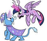antlers fang karpet-shark magic princess_twilight the_great_and_powerful_trixie twilight_sparkle
