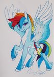 fat-bot highres rainbow_dash redesign traditional_art