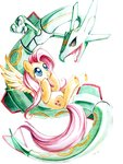 artricahearts crossover fluttershy pokemon rayquaza