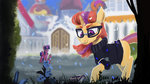 canterlot flowers glasses hierozaki highres moondancer spike twilight_sparkle