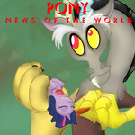 album_cover blood discord news_of_the_world parody queen twilight_sparkle txlegionnaire