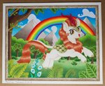 absurdres autumn_blaze flowers highres kirin maximustimaeus traditional_art tree